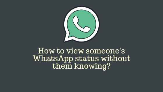 how to view status of others without letting them know