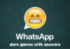 WhatsApp dare games with answers