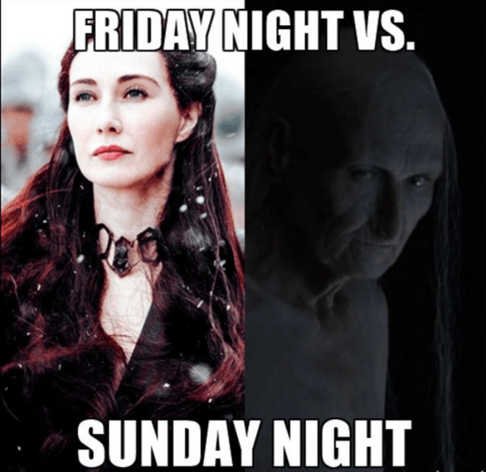 Friday Night vs Sundat Night