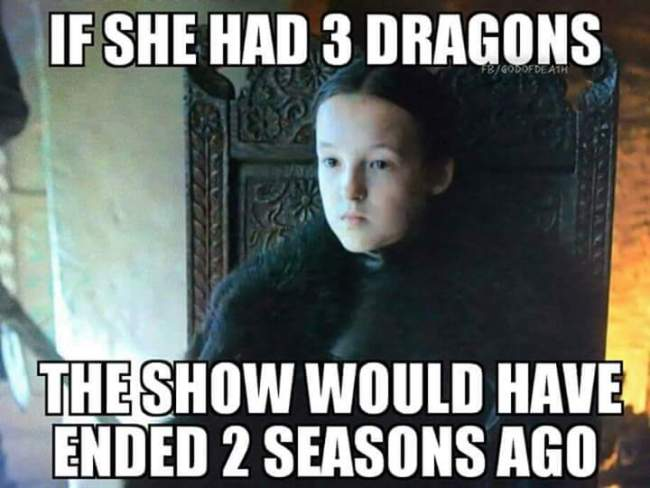 If she had 3 dragons