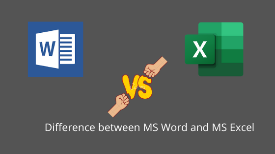 Difference between MS Word and MS Excel