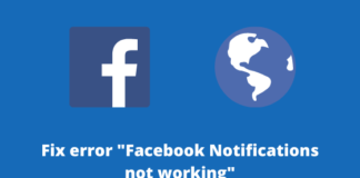 Facebook Notifications not working