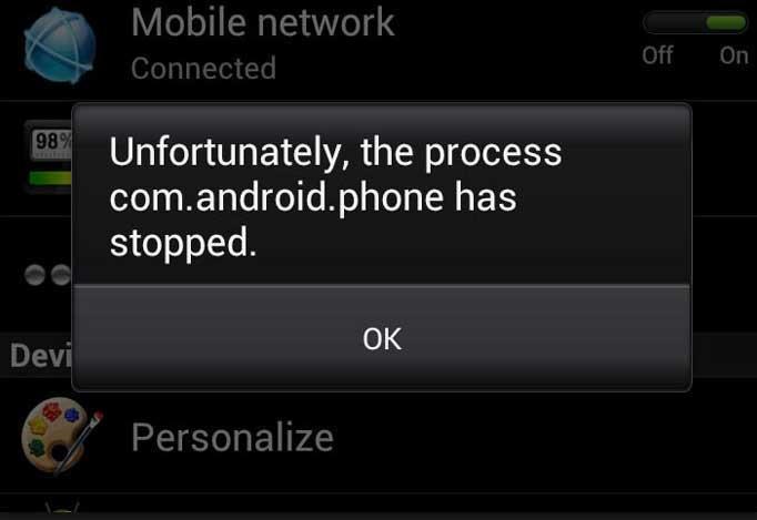 Unfortunately Phone Has Stopped